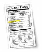 foto of trans  - Nutrition facts label - JPG