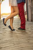 picture of snickers  - Couple kissing outdoor  - JPG