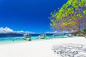 pic of boracay  - Filipino boats in the sea Boracay Philippines - JPG