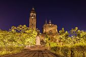 pic of luzon  - Manila Cathedral in the park Intramuros Manila Philippines - JPG