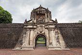 picture of conquistadors  - Fort Santiago in Intramuros Manila city Philippines - JPG