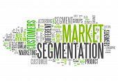 image of market segmentation  - Word Cloud with Market Segmentation related tags - JPG
