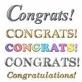 foto of congrats  - Congratulations congrats text in gold silver and colourful designs - JPG