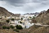 foto of oman  - View to Muscat in Oman on a cloudy day - JPG