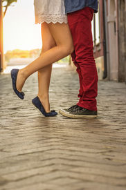 foto of snickers  - Couple kissing outdoor  - JPG