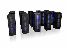 image of supercomputer  - Several rows of server racks - JPG