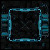 image of futuristic  - Futuristic graphic user interface - JPG