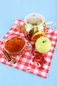 stock photo of chinese checkers  - Goji berries drink in glass cup - JPG