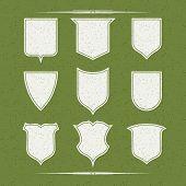 Постер, плакат: Set Of Nine Different Forms Of Shields