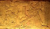 foto of mayan  - King Pakal in ancient Mayan ruins of Palenque Chiapas Mexico - JPG
