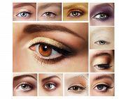 stock photo of human eye  - Set of Eyeshadow - JPG