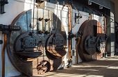 picture of blast-furnace  - View of coffee roaster the furnace of old Italian industry in Trieste - JPG