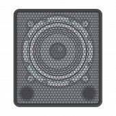 image of subwoofer  - vector solid dark grey colors concert Subwoofer Speaker - JPG