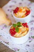 stock photo of millet  - sweet pumpkin porridge with berries and millet  - JPG