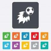 foto of fireball  - Football fireball sign icon - JPG