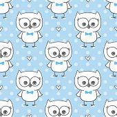 image of baby twins  - cute little owls - JPG