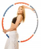 image of hula hoop  - Sport training gym and lifestyle concept - JPG