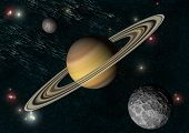 stock photo of saturn  - Solar system - JPG