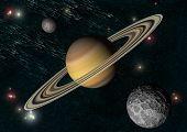 stock photo of saturn  - Solar system - JPG