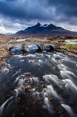 picture of boggy  - Isle of Skye landscape during a storm - JPG