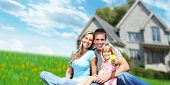 picture of construction  - Happy Family near new home - JPG
