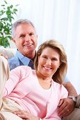stock photo of retirement  - Senior couple at new home - JPG