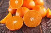 image of clementine-orange  - fresh clementine or orange - JPG