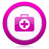 picture of violets  - first aid violet icon hospital violet icon   - JPG