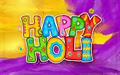 stock photo of indian  - illustration of colorful Holi background in Indian kitsch style - JPG