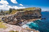 picture of suny  - The Gap at Watsons Bay in Sydney on suny day - JPG