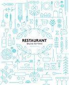 picture of decorative  - RESTAURANT BRANDING LINE PATTERN DESIGN TEMPLATE - JPG