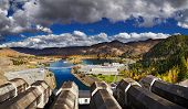 picture of hydroelectric  - Lake Benmore hydroelectric dam - JPG