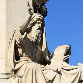stock photo of prophets  - Prophet Ezechiel statue in Rome Italy - JPG