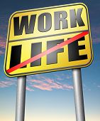 picture of mental_health  - life work balance importance of career versus family leisure time and friends avoid burnout mental health stress free test road sign icon  - JPG