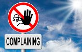 Постер, плакат: stop complaining accept fate and be positive dont complain and take responsibility be responsible