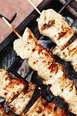 image of brazier  - healthy shish kebab  - JPG