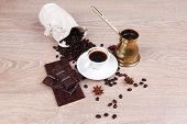 picture of hot coffee  - sweet hot drink  - JPG