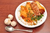 picture of nuong  - Vietnamese Vermicelli with grilled pork or Bun Thit Nuong - JPG