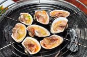 picture of pry  - Shell steaks on the grill in the restaurant - JPG