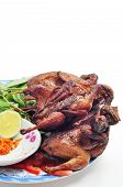 pic of quail  - Vietnamese grilled quail on a white background - JPG