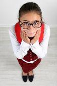 picture of schoolgirls  - Beautiful little funny schoolgirl - JPG
