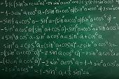 picture of math  - Math formulas on blackboard background - JPG