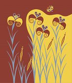 picture of minos  - Lilies Buds Ancient Old Minoan Fresco Wallpainting - JPG