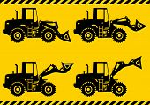 picture of heavy equipment  - Detailed illustration of wheel loaders - JPG