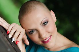 image of chemotherapy  - Happy and young cancer survivor after successful chemotherapy - JPG