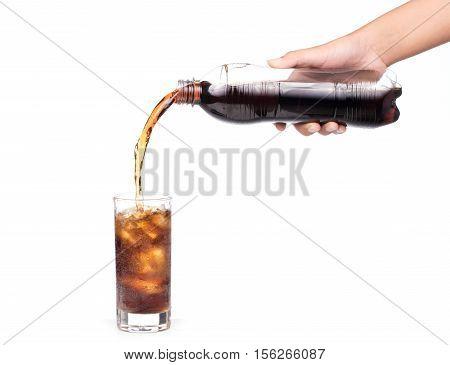 Pouring Coca Cola Splash Into