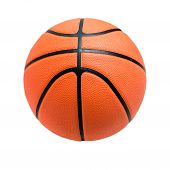 Постер, плакат: Basketball Ball Over White Background