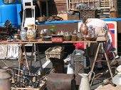 Objects Displayed At A Flea-Market