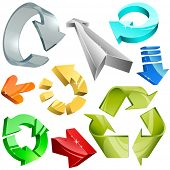 stock photo of mobius  - Vector collection of color plastic - JPG
