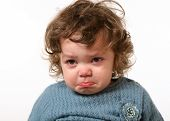 stock photo of fussy  - portrait baby cry - JPG